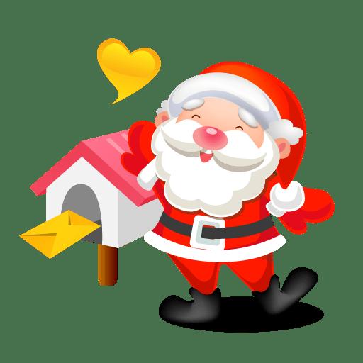 Santa mail icon