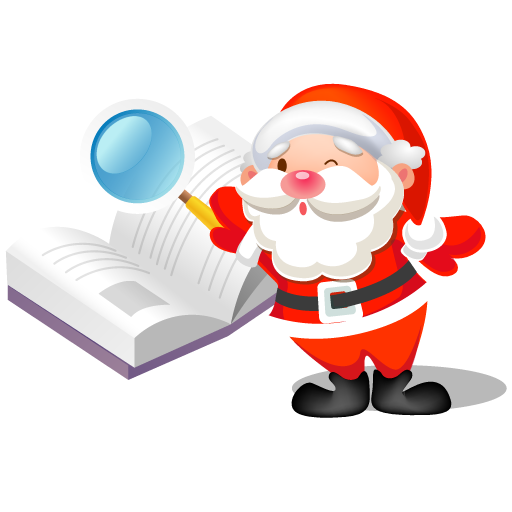 Santa-search-book icon