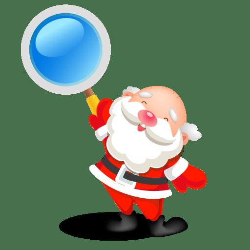 Santa search icon