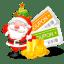 Christmas coupons icon