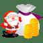 Santa money icon