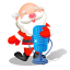 Santa singing microphone icon