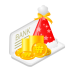 Christmas-bank-money icon