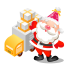 Santa-gifts-truck icon