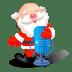 Santa-singing-microphone icon