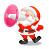 Santa-shouting-megaphone icon