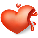 Heart blood icon