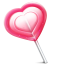 Love heart lolly icon