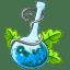 Poison blue icon