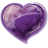 Heart violet icon