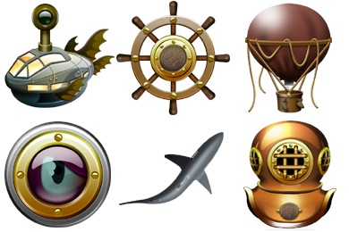 Jules Verne Icons