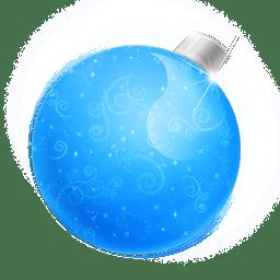 Christmas ball blue icon