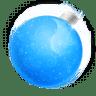 Christmas-ball-blue icon