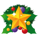 Christmas star icon