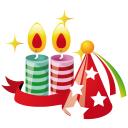 Party-hat-candles icon