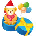 Teddy gift icon