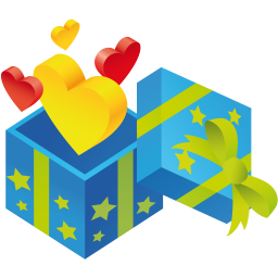 Gift hearts icon