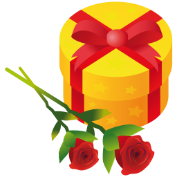 Gift rose icon