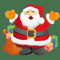 Santa gifts icon