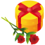 Gift rose icon