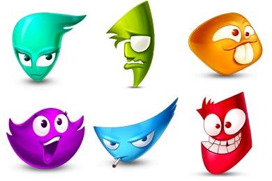 Rainbow Emo Icons