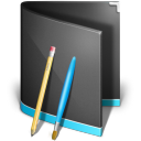 Applications Folder Black icon