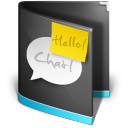 Chat Folder Black icon