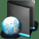 Net Folder Black icon
