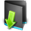 Downloads Folder Black icon