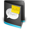 Chat-Folder-Black icon