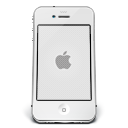 IPhone-White-Apple icon
