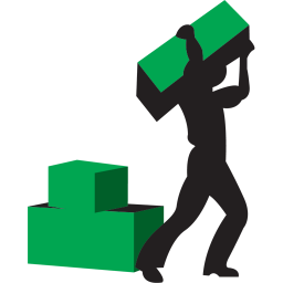 Worker green icon