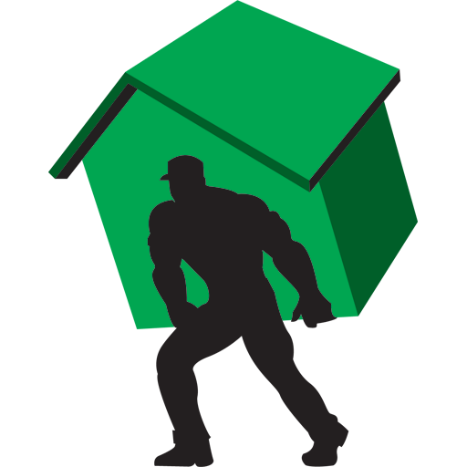 Carry home green icon