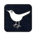 Twitter bird2 square icon