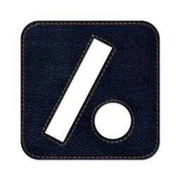 Slash dot square icon