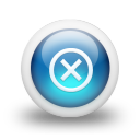 Glossy 3d blue delete icon