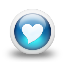Glossy 3d blue heart icon