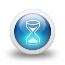 Glossy 3d blue hourglass icon