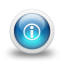 Glossy 3d blue i icon