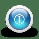 Glossy 3d blue i icon