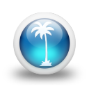 Glossy 3d blue orbs2 032 icon