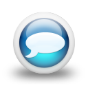 Glossy 3d blue orbs2 041 icon
