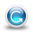 Glossy 3d blue orbs2 092 icon