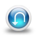Glossy 3d blue orbs2 093 icon