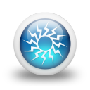Glossy 3d blue orbs2 116 icon