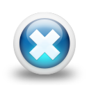 Glossy 3d blue orbs2 133 icon