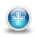 Glossy 3d blue orbs2 135 icon
