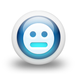 Glossy 3d blue orbs2 136 icon