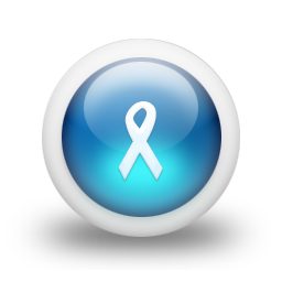 Glossy 3d blue ribbon icon