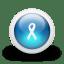 Glossy-3d-blue-ribbon icon
